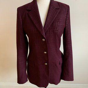Versace Jeans Couture Sz 28 Purple 3 button